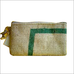 Jute Zippered Pouch